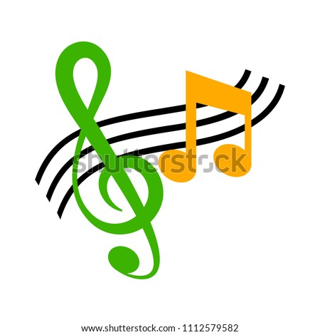 vector musical note symbol