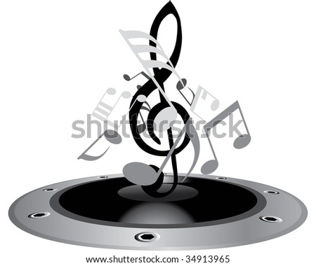 music staff clipart. Vector musical notes staff