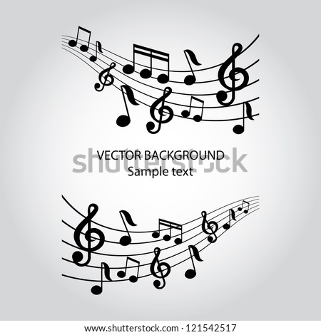 vector musical notes vector background