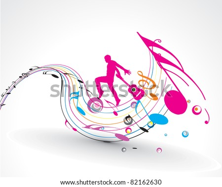 vector musician playing guitar