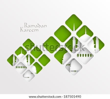 vector muslim paper graphics