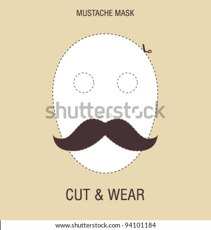 Vector mustache mask