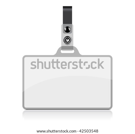 Vector Name Tag on white background. No transparency and effects.