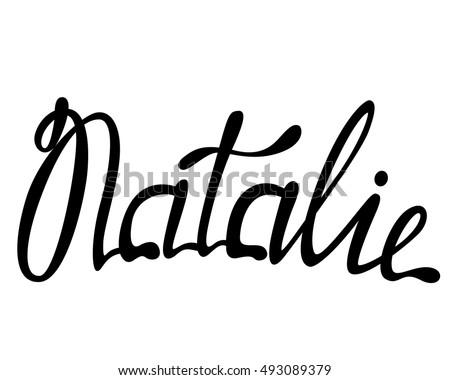 vector natalie name lettering