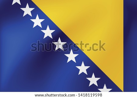 vector national flag of bosnia