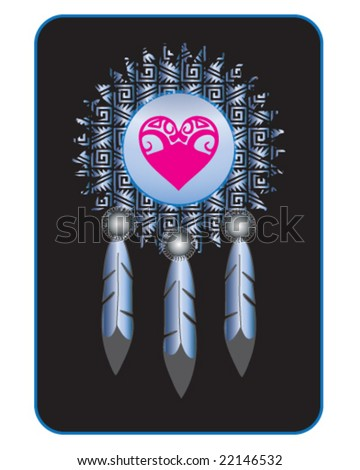 vector native american indian medicine shield
