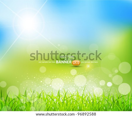 vector natural green background