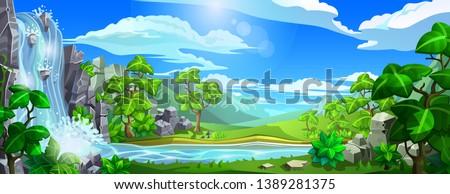 vector natural landscape