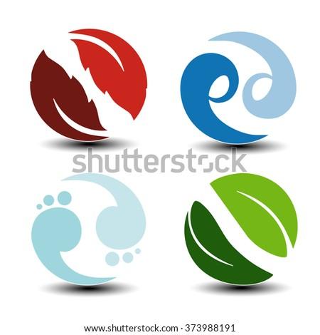 vector natural symbols   fire