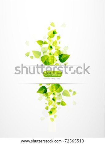 vector nature background. Abstract fly leaves background - stock vector