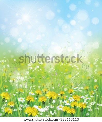 vector  nature background with