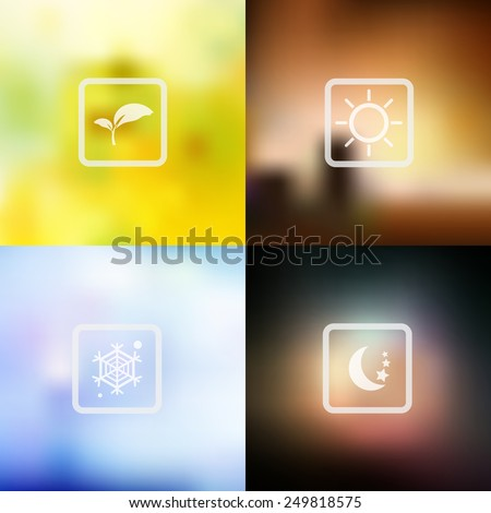 vector nature blur background
