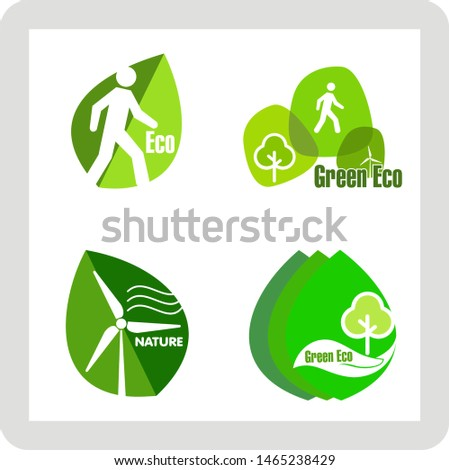 vector nature green , eco green icon