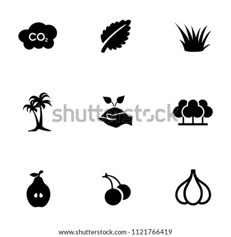 vector nature sign symbols. eco, ecology, environment and organic icons set #1121766419