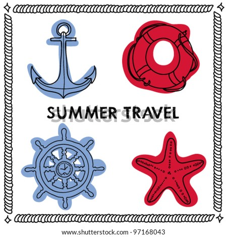 Vector nautical set