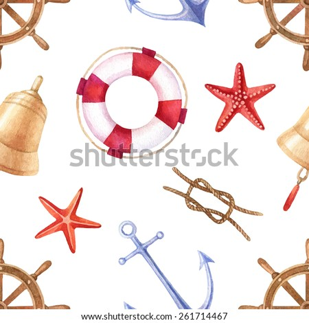 vector nautical vintage pattern