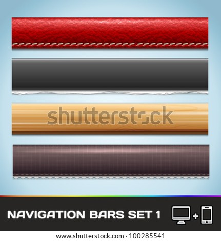 Vector Navigation Bars For Web And Mobile Set1