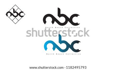 Vector NBC North Beach Collective Logo Design Template