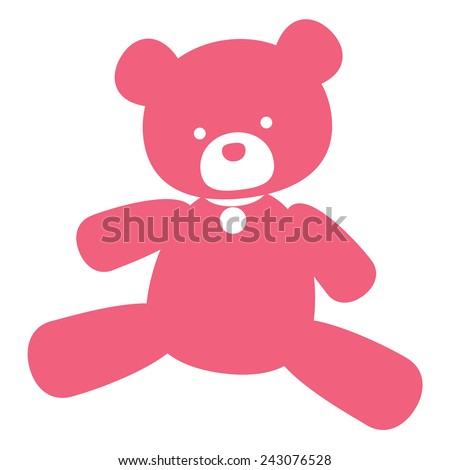 vector neat picture pink bear