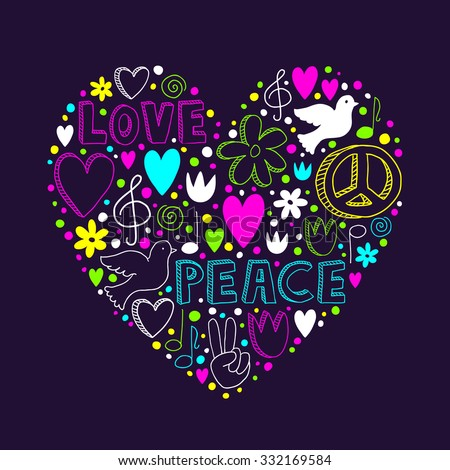 Peace & Love Space purple blue Throw Blanket by pretty1 ...  |Peace And Love Purple