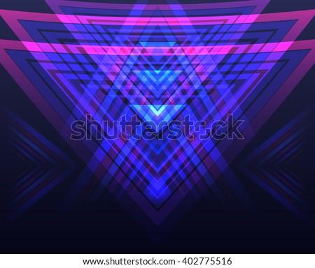 vector neon geometric