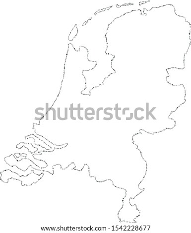 Vector Netherlands dotted blank map