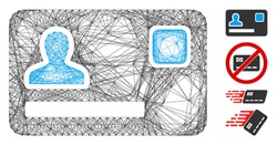 Vector network banking card. Geometric wire carcass 2D network made from banking card icon, designed from intersected lines. Some bonus icons are added.