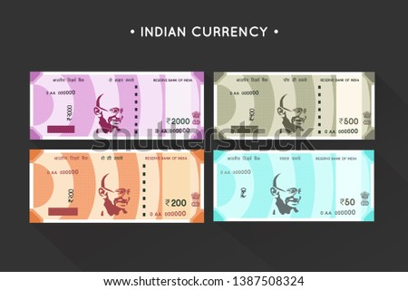 Vector New Indian Currency Notes