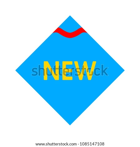 vector New label sticker - new badge or sticker, vector product retail illustration
