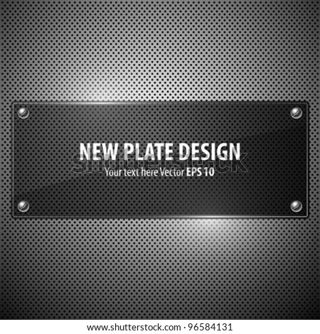 Vector new plate transparency design background, illustration