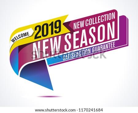 Vector new season label