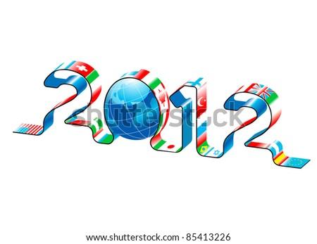 vector new year 2012