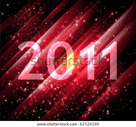 vector 2011 new year abstract background