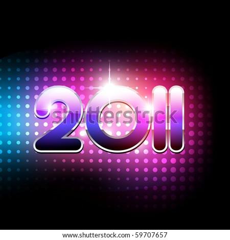 vector new year 2011 beautiful