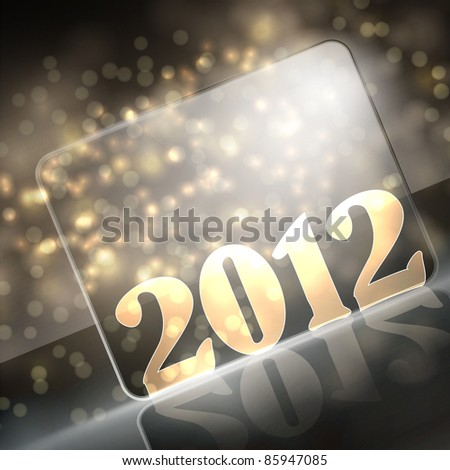 vector new year 2012 beautiful design