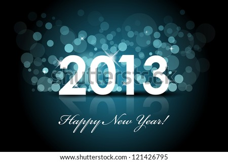 Vector 2013 New year blue background