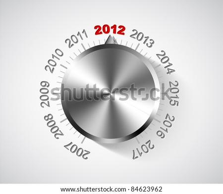 Vector 2012 New Year card with chrome knob