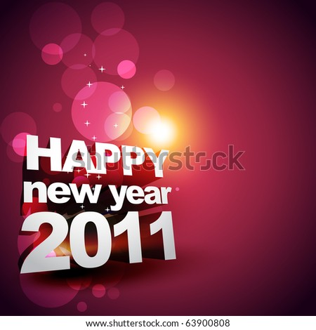 vector new year glowing design