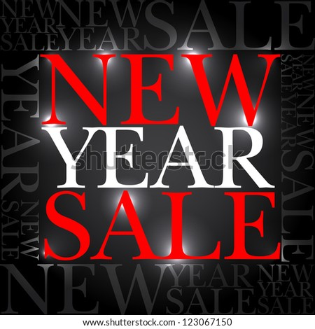 Vector New Year Sale - action offer