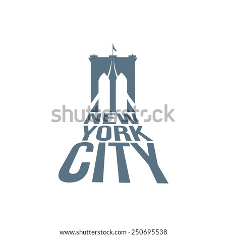 vector new york typography with