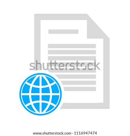 vector newspaper. documents symbol, newsletter article
