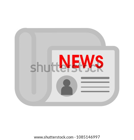 vector newspaper illustration - news icon - daily media newsletter, article publication sign