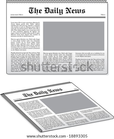 vector newspaper illustrations