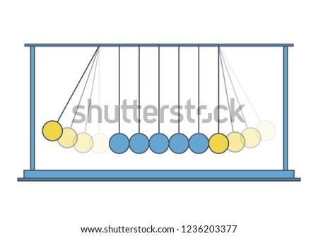 vector newton swing blue