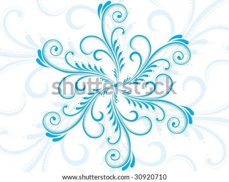 stock vector : vector nice floral pattern tattoo, vector wallpaper