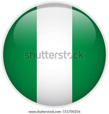 Vector - Nigeria Flag Glossy Button