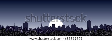 vector night cityscape