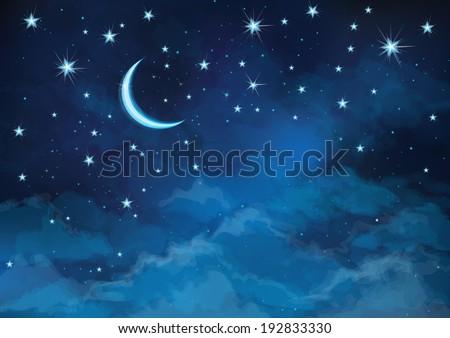 vector night sky background