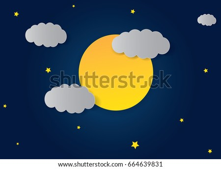 vector night sky background