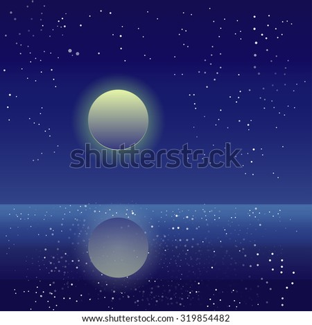 vector night sky with stars and